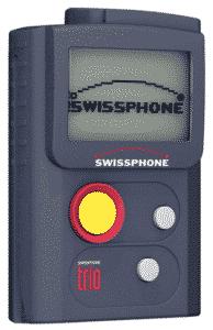Ein Produktbild eines Alleinarbeiterschutz Gerätes der Firma Swissphone